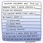 isolation daily to-do list