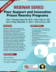 Peer Support Prison Re-entry Program